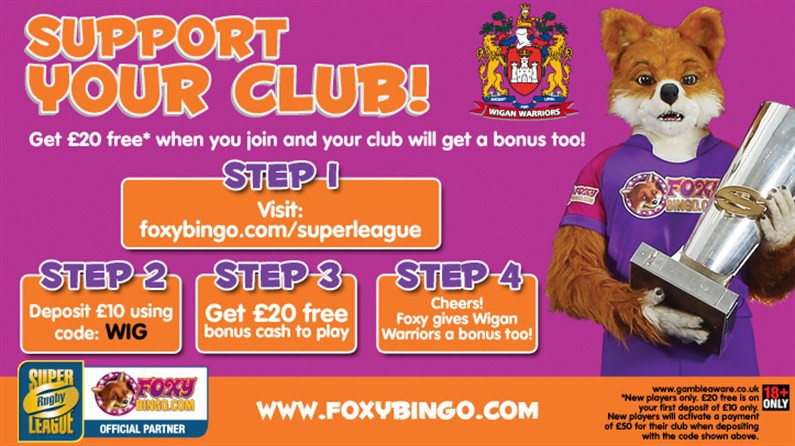 Support the Warriors and Win with Foxy Bingo