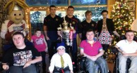 Warriors visit Derian House