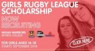 Wigan Launch Girls RL Scholarship