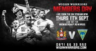 Warriors Hold Members Day at Warrington Game