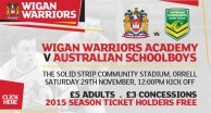 Australian Schoolboys Game Information
