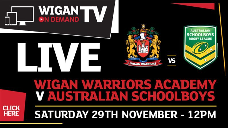 Australian Schoolboys Game Live on Wigan TV