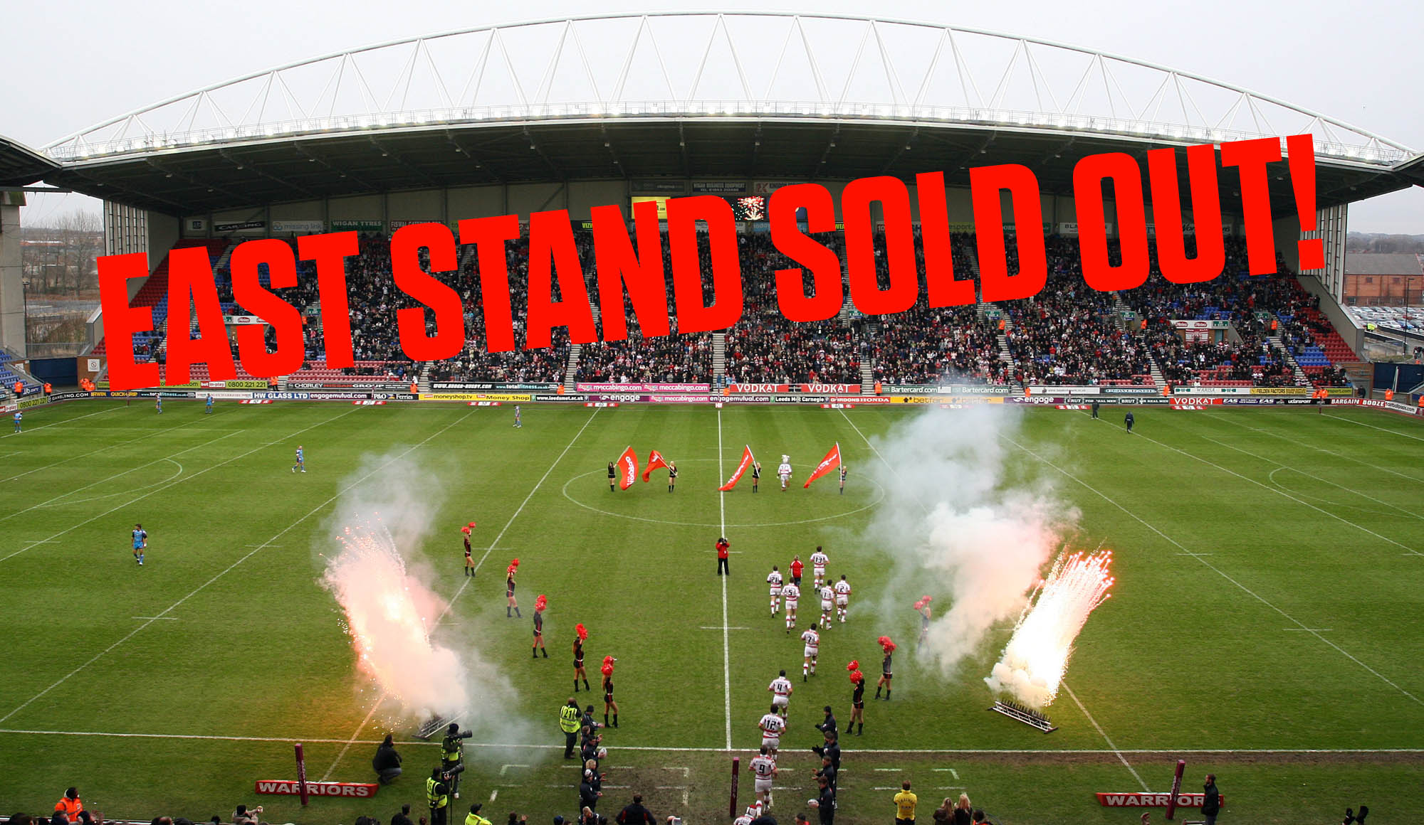 East Stand SOLD OUT for WCC