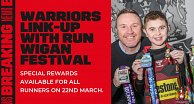 Warriors Link-up with Run Wigan Festival