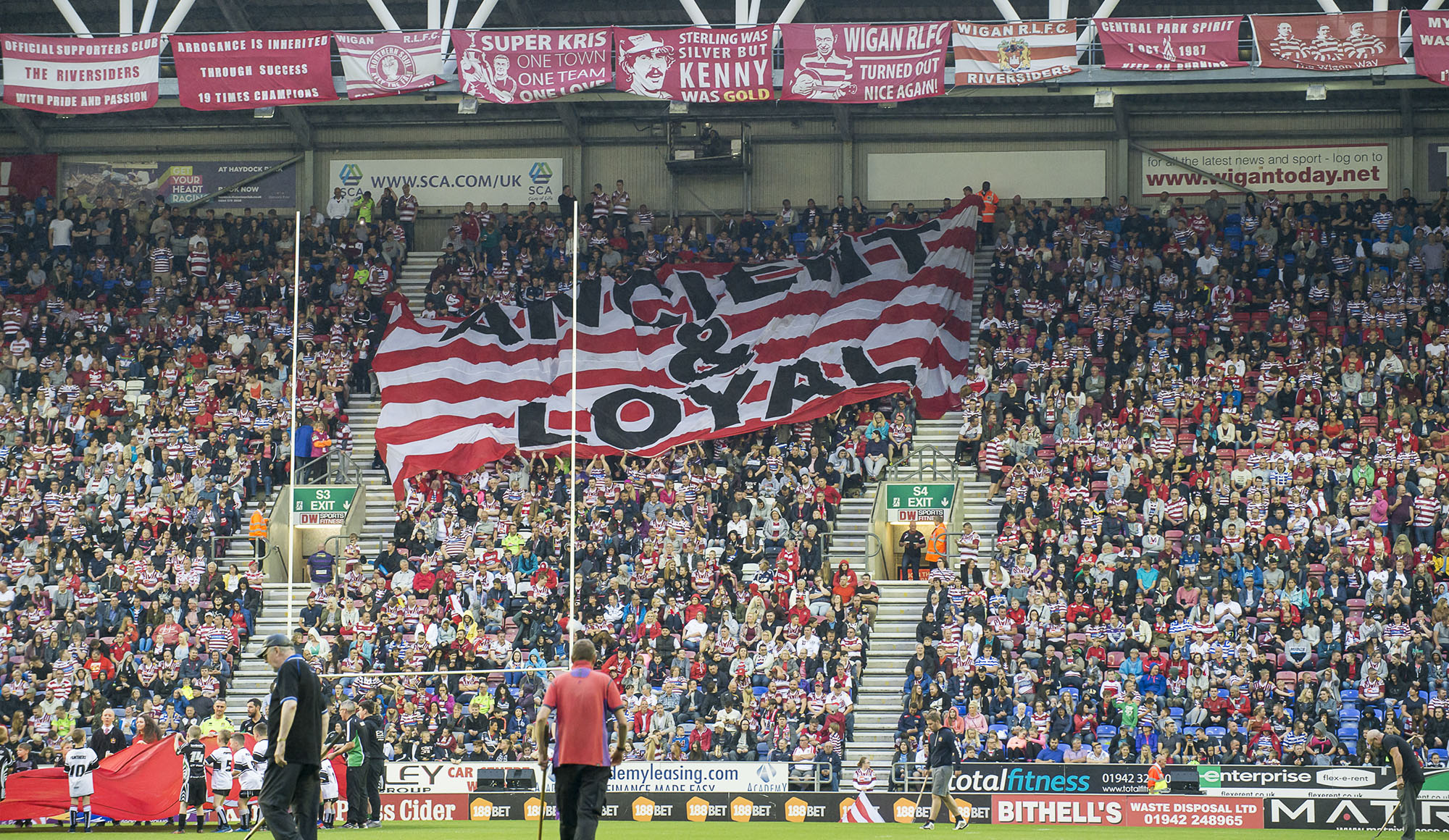 South Stand DW Stadium Wigan fans 2016