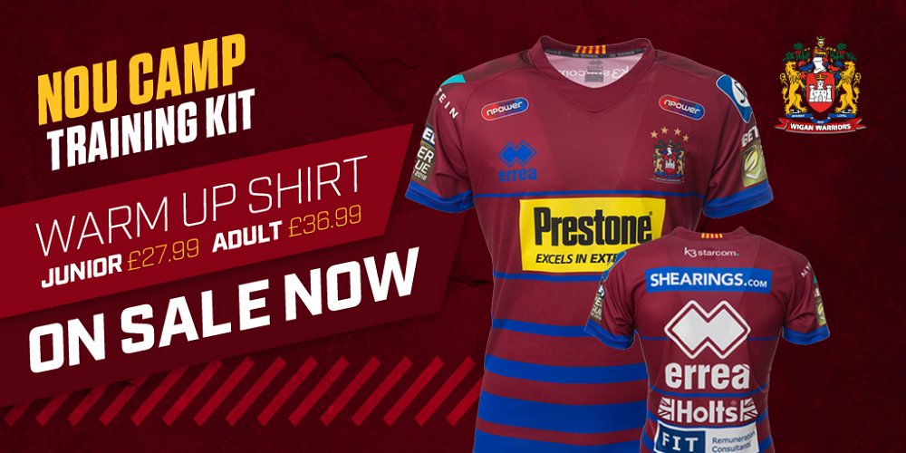 lower price with c0e86 55554 Nou Camp training range released | News | Wigan Warriors